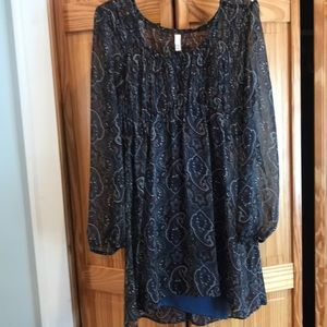 Boho Paisley blouse. With Camisole